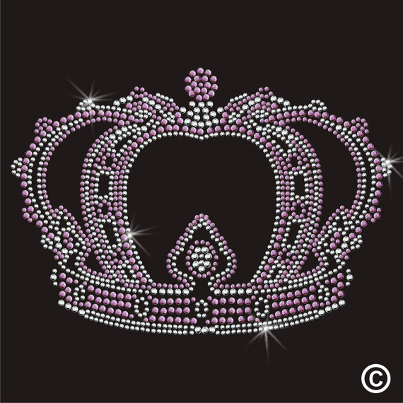 2pc/lo Crown Royal Princess Rhinestone Applique hot fix rhinestone motif designs Iron On Bling Transfer designs