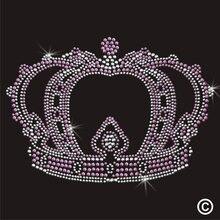 2pc/lo Crown Royal Princess Rhinestone Applique hot fix rhinestone motif designs Iron On Bling Transfer