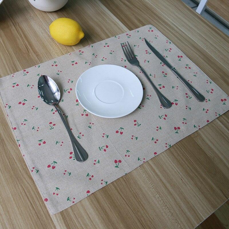 Buy cotton mats pads pastoral cherry - Set de table crochet ...