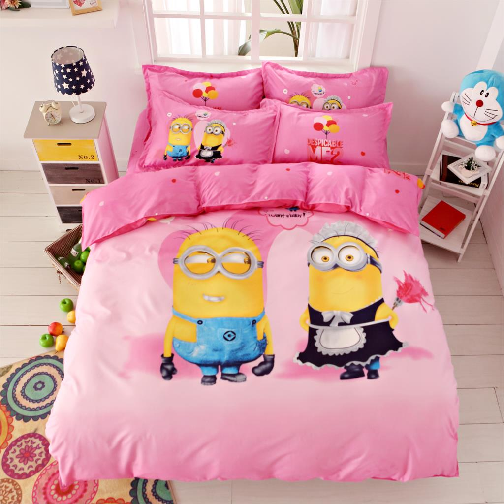 Cotton Polyester Cartoon Printing Minions