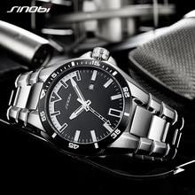 2018 SINOBI Mens Shock Business WatchFull Steel Male Fashoin Military Wrist Watches Men Luminous Hands Relogio Masculino saat