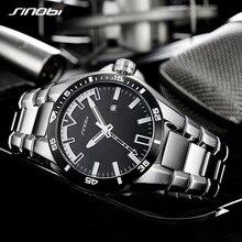 SINOBI 2018 мужские ударные деловые часы, стальные мужские модные военные наручные часы, мужские светящиеся наручные часы, мужские часы saat