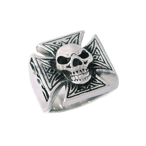 free shipping! retro punk style personality skull finger ring classic cross party fashion jewelry ring SWR0004