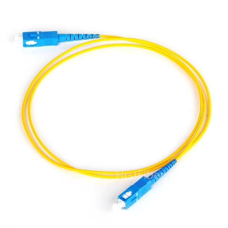 50pcs 1m  SC UPC To SC UPC G657A Fiber Patch Cable, Jumper, Patch Cord Simplex 2.0mm SC PC TO SC PC PVC SM Bend Insensitive