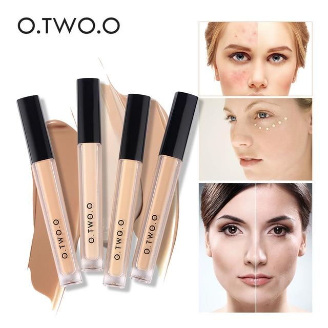 O dos O 4 colores cara contorno maquillaje corrector líquido Base de maquillaje cara Fundación marca corrector líquido maquillaje cosméticos