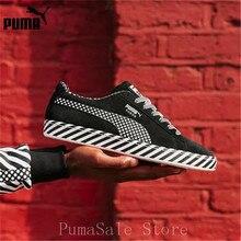 Puma SUEDE CLASSIC Budaya Pop 50 Sneakers BTS 367776-02 Pria dan Wanita  Hitam Putih Bulutangkis Sepatu ukuran EUR36-44 48e825f0a7