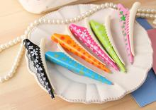 Novelty Hairpin Ballpoint Pen for Girl , Cute Flower Clip Ball Pen for School Girl Students as Writing Supplies 0.7mm Black Ink