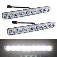 YIJINSHENG Car Universal Fit 9 LED High Power LED Daytime Running Lights DRL Kit Extreme Super