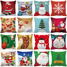 Carta Cão feliz Natal Papai Noel Xmas Ano Novo Presentes Throw Pillow Case Capa Home Almofadas(China)