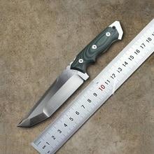 Очень sharp High-end Brush Finish D2 Лезвия Исправлена Тактический Нож, Три Края Ножи Выживания Фиксированным Лезвием