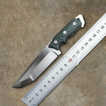 Very sharp High-end Brush Finish D2 Blade Fixed Tactical Knife,Three Edge Survival Knives Fixed Blade