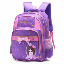 New Kids Schoolbags for Girls Waterproof Bookbags Children Princess Orthopedic Backpack Primary Escolar Satchel Mochila Infantil(China)