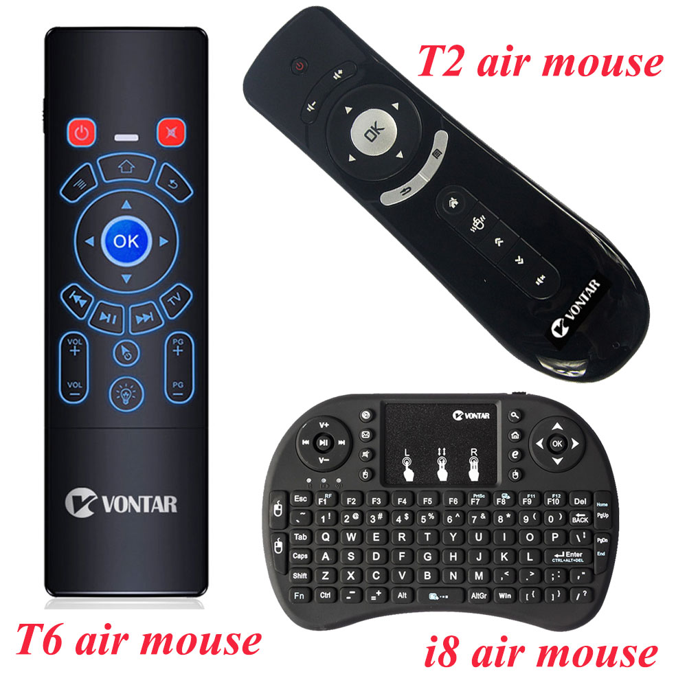 Original T6 & T6 Plus & T2 & i8 Luft Maus und 2.4Gh Mini Drahtlose Tastatur Backlit Optional Fernbedienung für Android TV BOX PC