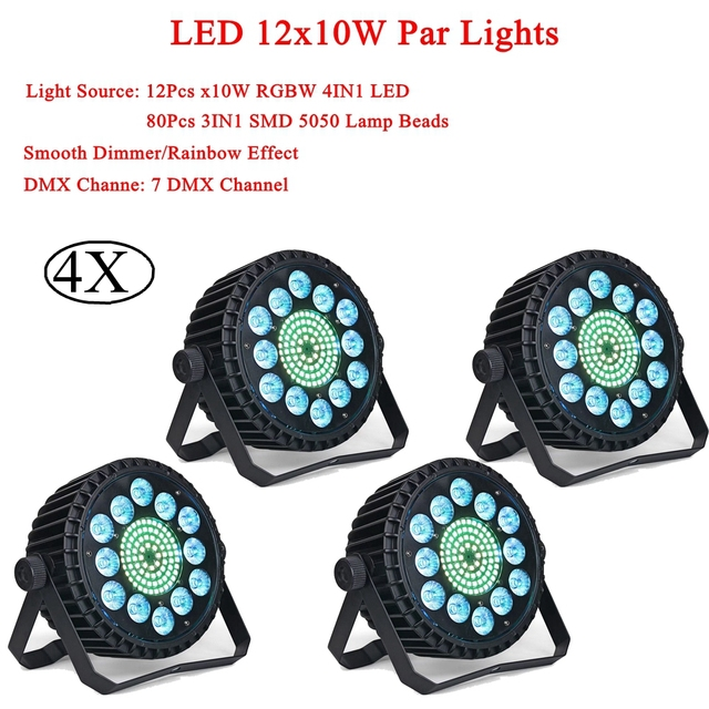 Professional LED 12x10W RGBW 4IN1 LED Par Light DMX Stage Light Effect Bar Lighting Show Strobe For DJ Disco Party Stage Light