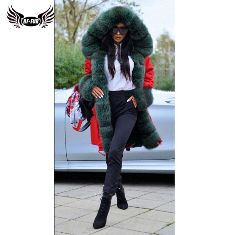 La Plus Air Plein Réel Épais Fur Couvert Manteaux Taille Femmes Parc D'hiver Parti Avec Peau Bffur Tout Vêtements Naturelle Real Parka De Fourrure Russe AjL54R