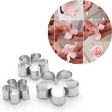 3 pièces/ensemble en acier inoxydable Rose pétale bricolage Biscuit moule moule Cutter Fondant moule décoration Biscuit gâteau moule livraison gratuite