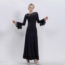 d4fb637d53de Gonna sala da ballo sala da ballo valzer vestito nero abiti da ballo  flamenco gonna costumi di danza moderna top e gonna abiti d.