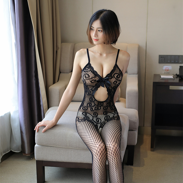 Sexy Mesh Novelty & Special Use Sexy Clothing Sexy Underwear Exotic Apparel Jumpsuit Full Body Stockings Teddies & Bodysuits 8