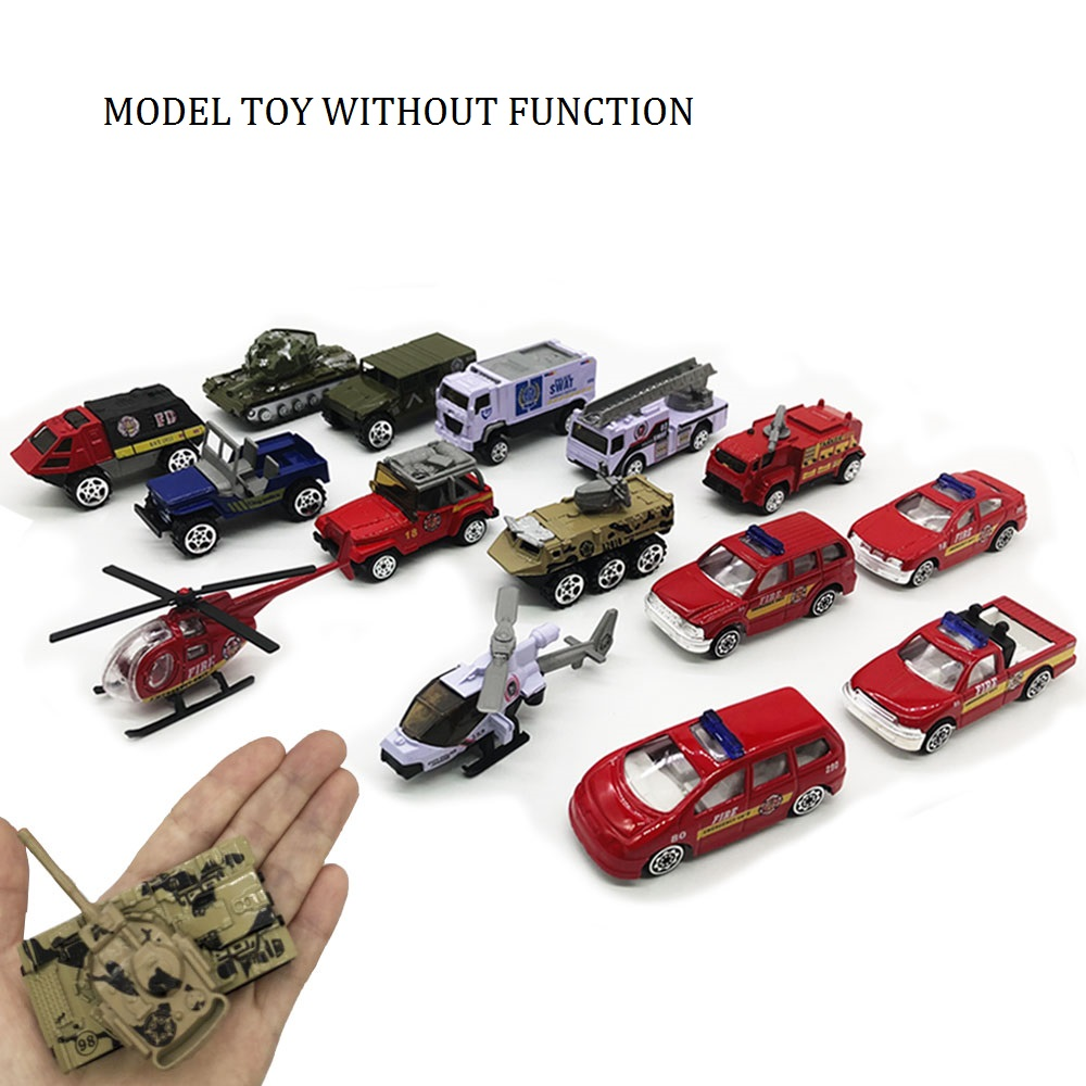 Simulation Exquisite Alloy Car Toy Metal DIE-CAST Vehicle Model Collection Gift For Kid Small Truck Fireman Jeep Tank Police Car image
