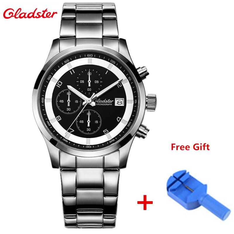 ФОТО New Gladster Watches Men Quartz Top Brand Analog Military Male Clock Men Sports Army Watch Waterproof Luminous Relogio Masculino
