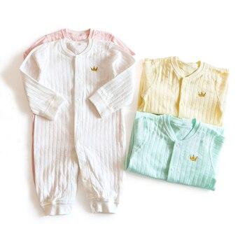 58458de0b118 6-24 M sólido mamelucos de bebé corona ropa bebé Mono para niño niñas de  recién nacido Ropa de niño de Navidad otoño ropa