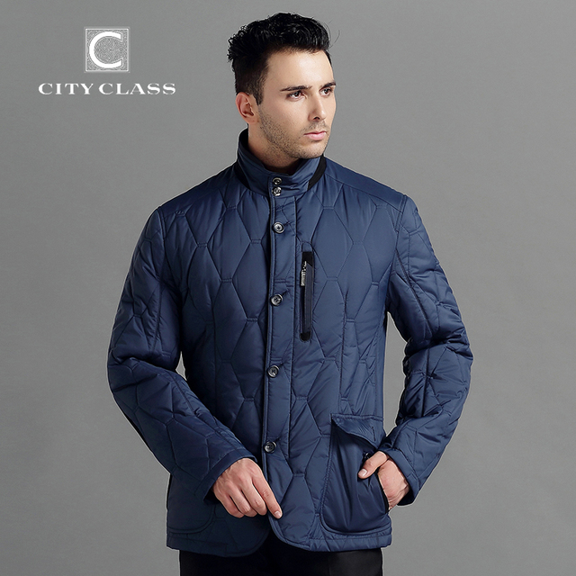 CITY CLASS 2015 Spring Autumn Man Casual Jacket Business Leisure Slim Fit Stand Collar Fashion Outwears Free Shipping 14424