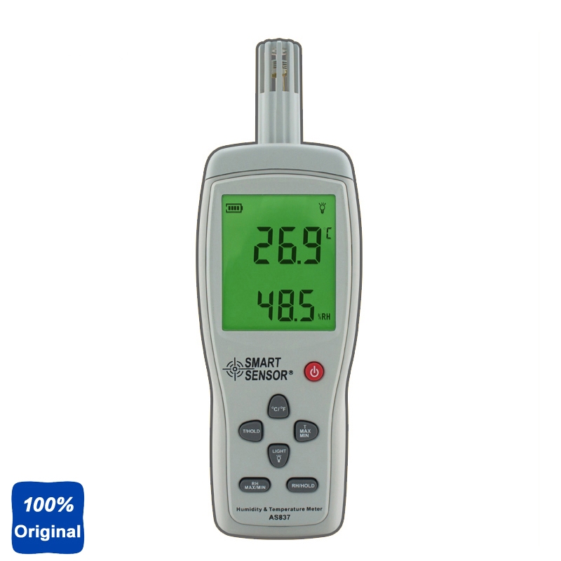 AS837 Humidity Temperature Meter Digital Hygrometer Humidity Meter digital indoor air quality carbon dioxide meter temperature rh humidity twa stel display 99 points made in taiwan co2 monitor