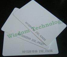 1000 ピース/ロット 125 125khz のスマートカード EM4100/4102 rfid の近接カード 0.8 ミリメートル