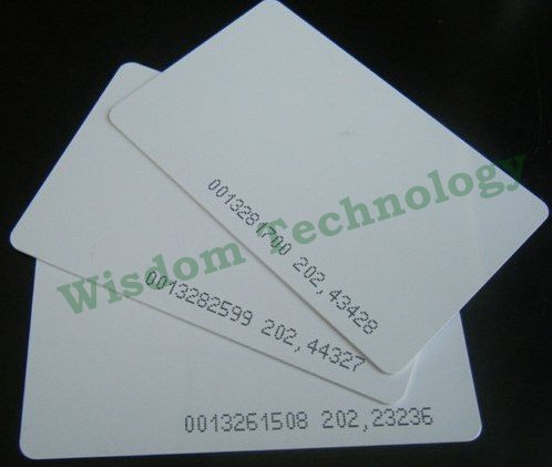 1000pcs/Lot 125Khz Smart Card EM4100/4102 RFID Proximity Card 0.8mm , Free Shipping DHL Or EMS