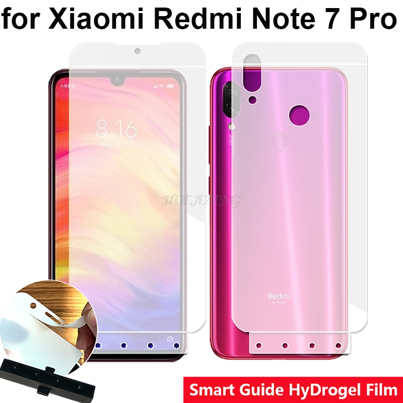 Smart Guide Tool Soft AUTO Fixed Hydrogel Film Full Screen Protector for Xiaomi Redmi Note 7
