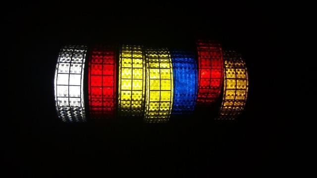 5 cm * 50 m Fluorescente de Alta Visibilidad Intermitente Pequeña Plaza de Advertencia Reflectante de Seguridad de PVC Cinta de Costura Para La Ropa
