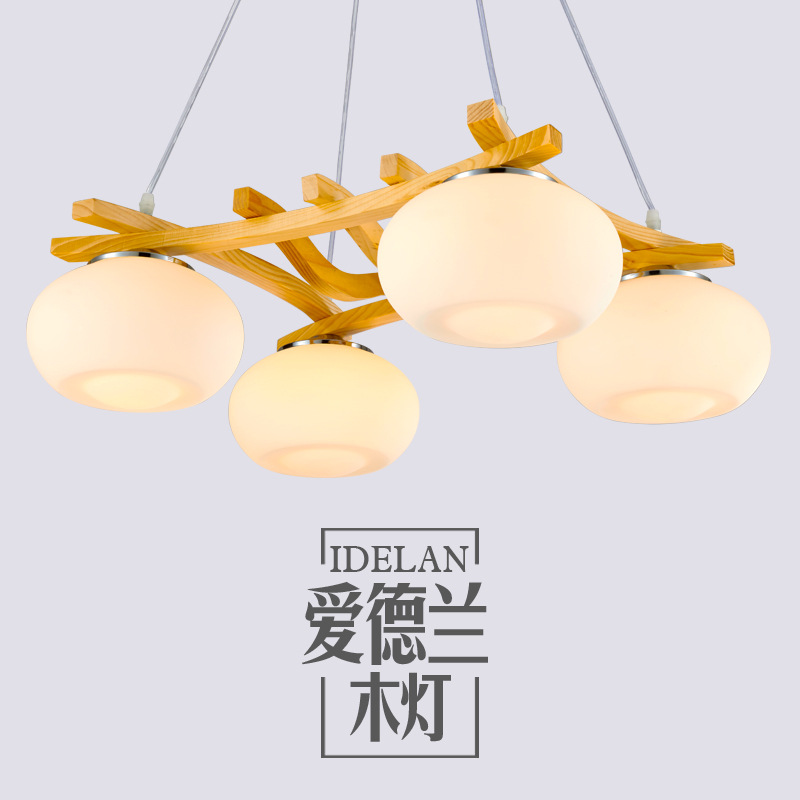 room chandelier modern designer chandelier bedroom simple restaurant Nordic Japanese American style solid wood lamps new chinese style ceramic chandelier restaurant study bedroom art warm solid wood chandelier free shipping