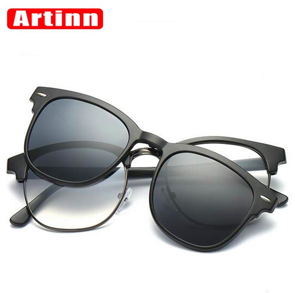 Magnetic Clip on Polarized Sunglasses TR90 Opical Glasses Frame Prescription  Eyeglasses Spectacles 2 In 1 Luxury Brand Designer-in Eyewear Frames from  ...
