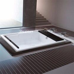 E-810 1.7 متر الاكريليك حمام حوض مع وسادة حمام جزءا لا يتجزأ من الحمام أحواض استحمام مزدوجة الكبار للأسرة/فندق عالية الجودة