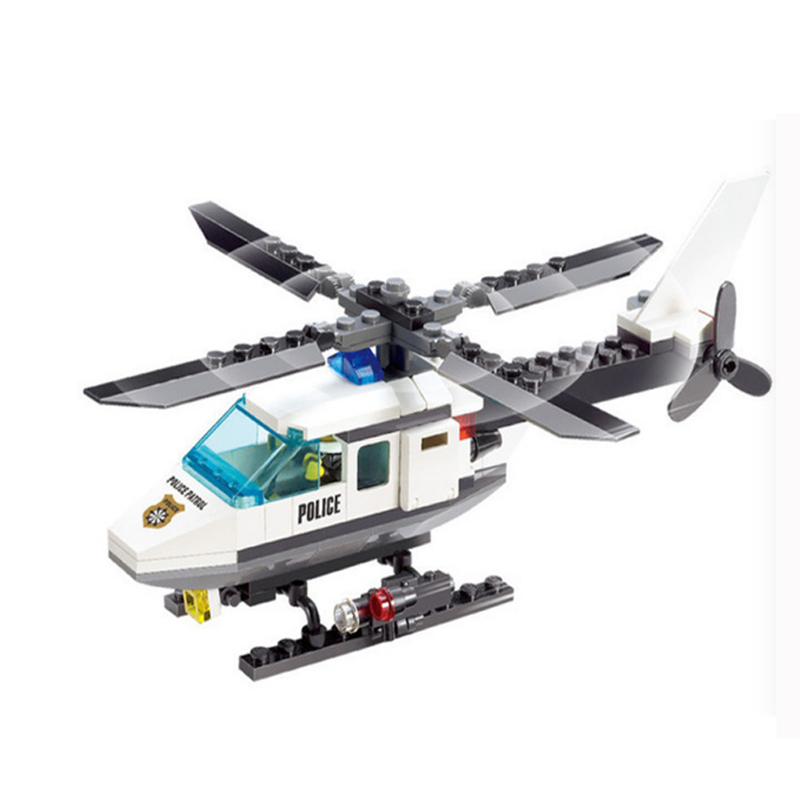 102Pcs City Police Series Building Blocks legoings Police Helicopter Blocks LEPIN Assembled Toys Educational DIY Blocks Toy цена и фото