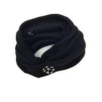Dual Use Scarf Champions League Football Soccer Neckerchief Training Outdoor Sports Windproof Multifunctional Fleece Warm Hat