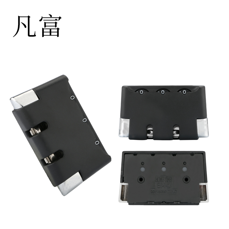 Luggage Suitcase Anti-theft Locks Factory Outlet Suitcase Equipment Combination ABS Plastic Ordinary Lock  Black Suitcase Lock