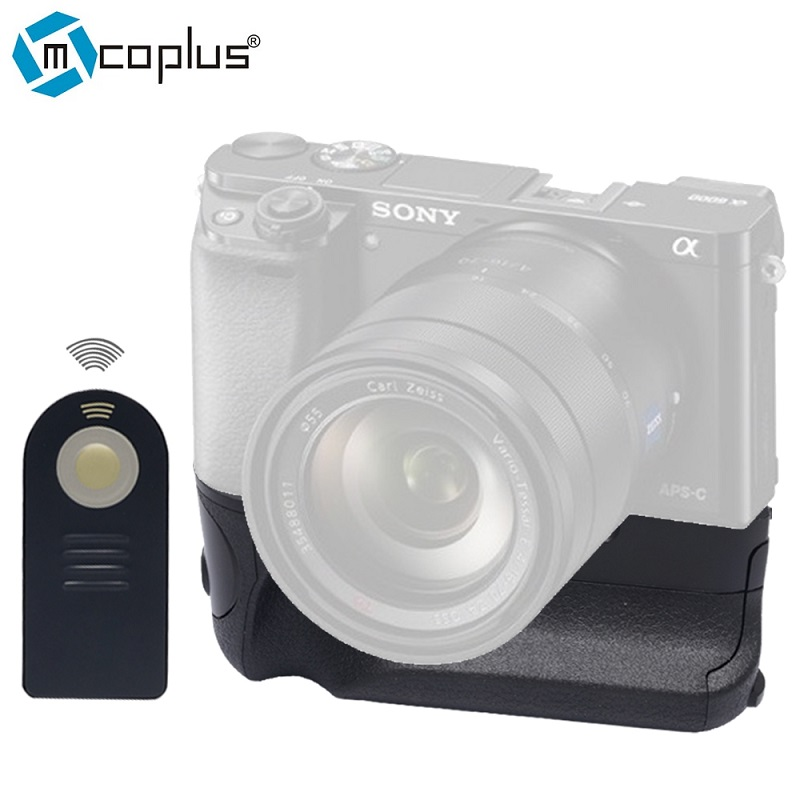 ФОТО Mcoplus BG-3DIR SG-3DIR Vertical Battery Grip for Sony Camera A6000 with battery Wireless Infrared Remote Control as NP-FW50