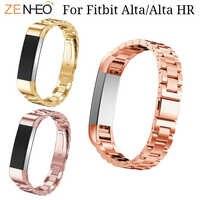 Pulsera de acero inoxidable correa de reloj para Fitbit Alta/Alta HR reemplazo de pulsera para Fitbit Alta HR correas de relojes inteligentes cinturón