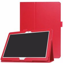 Ultra Thin Litchi Stand Case Skin Cover For Huawei MediaPad M3 Lite 10 BAH-W09 / BAH-W19 / BAH-AL00 10.1 inch Tablets(China)