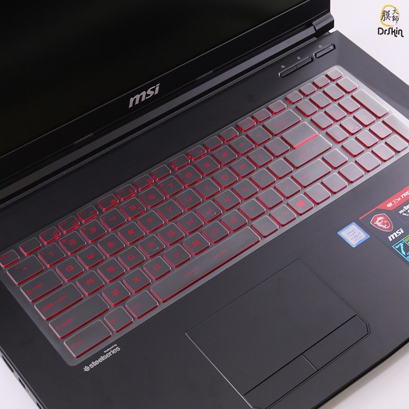 Free Shipping 15.6 inch laptop sleeve transparent TPU keyboard film in laptop keyboard cover For MSI GS60 GS70 GL62M GL72M GT72
