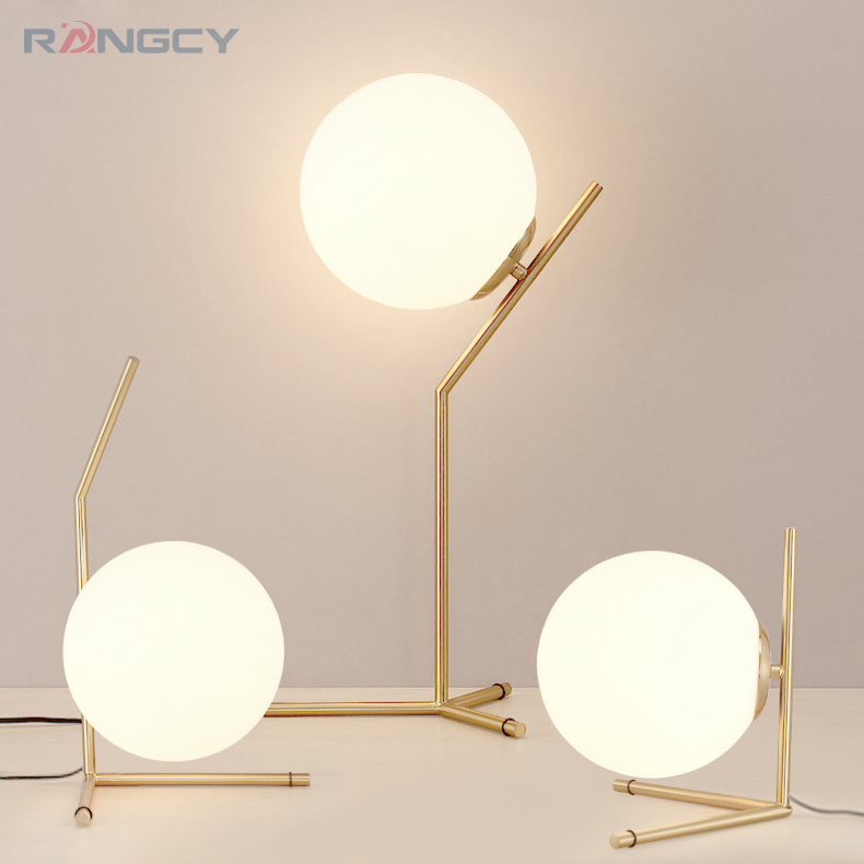 Modern Glass Table Lamps Nordic Simple Bedroom Bedside Reading Desk Lamp Home Decoration LED Table Lights E27 Lamparas Lighting tuda glass shell table lamps creative fashion simple desk lamp hotel room living room study bedroom bedside lamp indoor lighting