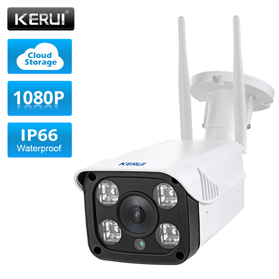 KERUI Full HD 1080P Waterproof WiFi IP Camera Surveillance Outdoor Camera Security Night Vision Cloud Storage CCTV Camera kerui 1080p cloud storage wifi ip camera surveillance camera 2 way audio activity alert smart webcam