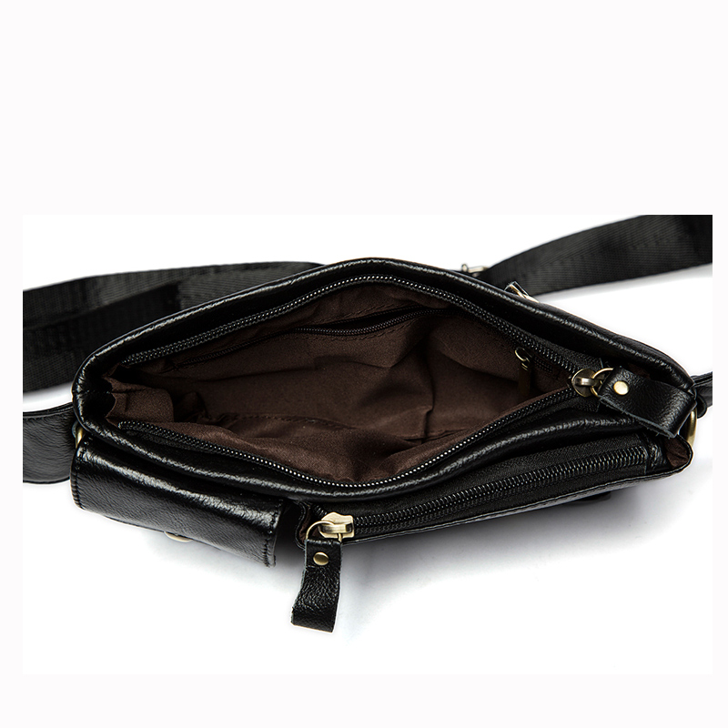 MARRANT Genuine Leather Waist Packs Fanny Pack Belt Bag Phone Pouch Bags Travel Waist Pack Male Small Waist Bag Leather Pouch