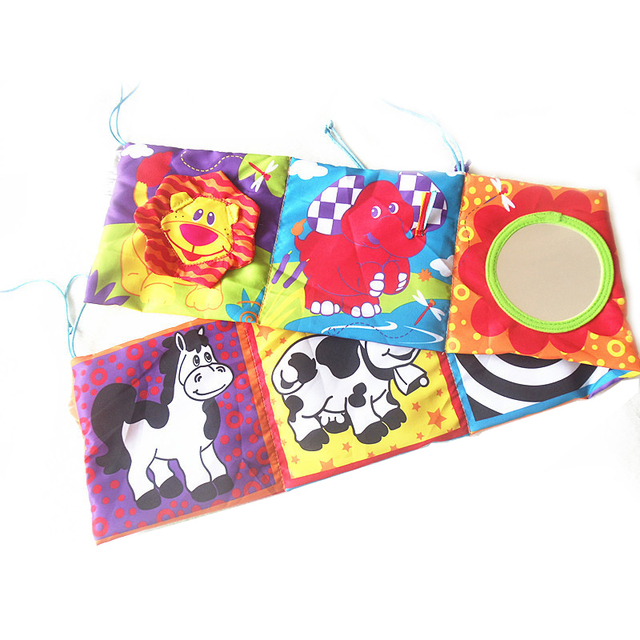 Animal Baby Playpens Cloth Book High Quality Colorful Patterns Toys For Newborns Soft Early Educational Cot Baby Toys A001-30