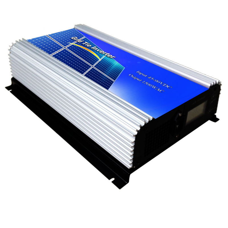 MAYLAR@ 45-90VDVDC ,1500W  Solar Grid Tie Inverter Connect Solar Panel,90-130VAC, 50Hz/60Hz,LCD Display Pure Sine Wave maylar 22 60vdc 500w solar grid tie pure sine wave inverter power supply 90 140vac 50hz 60hz for vmp29 40vmp panles