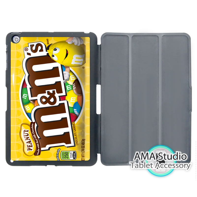 M M Chocolate Packaging Funny Case For Apple iPad Mini 1 2 3 4 Air Pro 9.7 Stand Smart Folio Cover