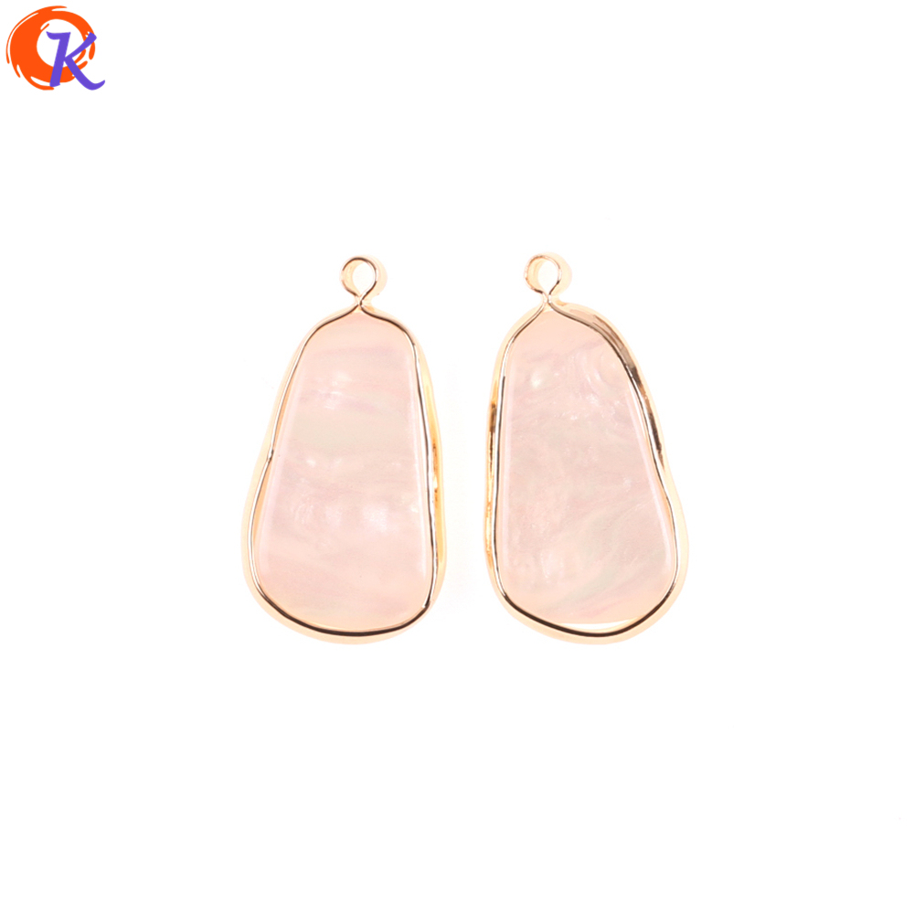 Cordial Design 50Pcs 13*26MM Jewelry Accessories/Earring Making/Shell Effect/Irregular Shape/DIY Part/Hand Made/Earring Findings
