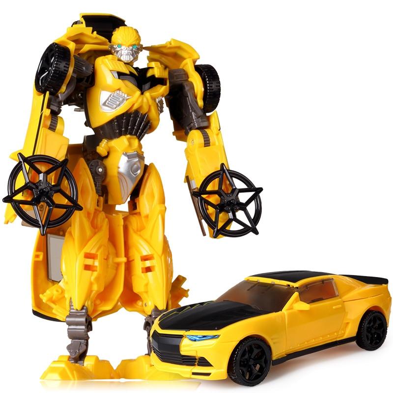 19 см трансформация автомобиля Робот Игрушки Шмель Оптимус Прайм Мегатрон Десептиконы Джаз Коллекция фигурка подарок для детей - Цвет: E