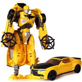 19cm Transformation Car Robot Toys Bumblebee Optimus Prime Megatron Decepticons Jazz Collection Action Figure Gift For Kids - E